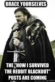 brace yourselves the how i survived the reddit blackout po - Brace Yourselves