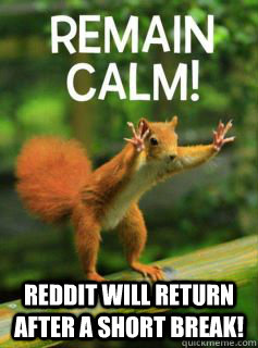 reddit will return after a short break - 