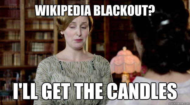 wikipedia blackout ill get the candles - Downton Abbey