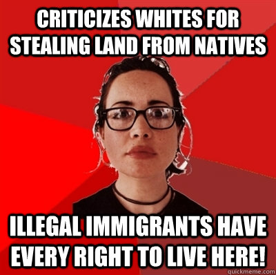 criticizes whites for stealing land from natives illegal imm - Liberal Douche Garofalo