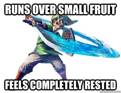 runs over small fruit feels completely rested - Logical Link