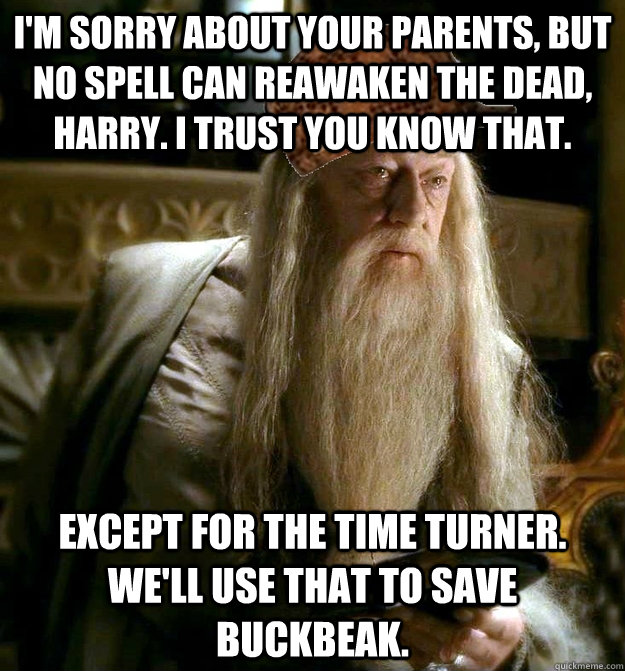 im sorry about your parents but no spell can reawaken the  - Scumbag Dumbledore
