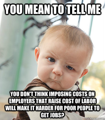 you mean to tell me you dont think imposing costs on employ - skeptical baby
