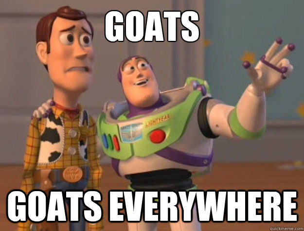 goats goats everywhere - Toy Story