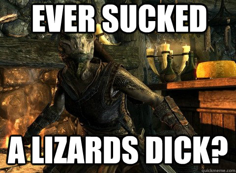 ever sucked a lizards dick - Perverted Argonian