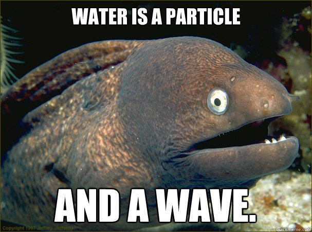 water is a particle and a wave - Bad Joke Eel