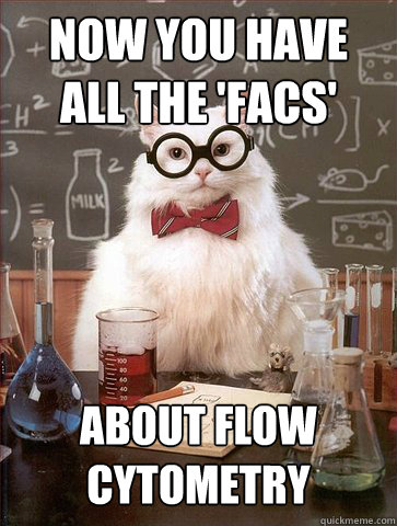 now you have all the facs about flow cytometry - Science Cat