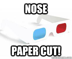 nose paper cut - 3D Glasses