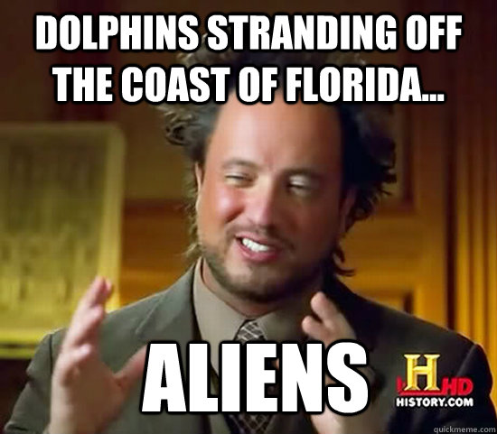 dolphins stranding off the coast of florida aliens - Ancient Aliens