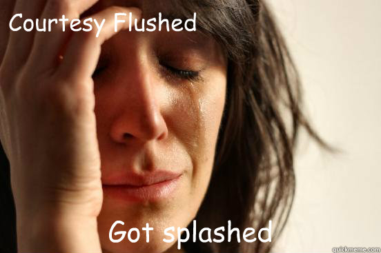 courtesy flushed got splashed - First World Problems