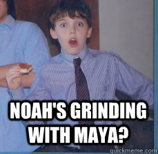 noahs grinding with maya - barmitzvah kid