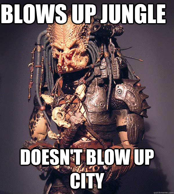 Predator blows up
