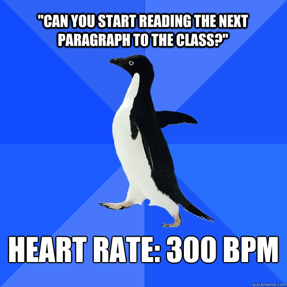 can you start reading the next paragraph to the class hea - Socially Awkward Penguin
