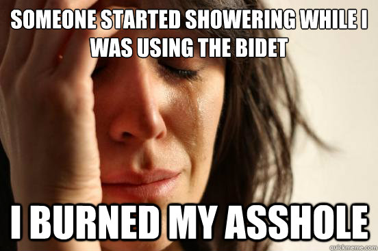someone started showering while i was using the bidet i burn - First World Problems