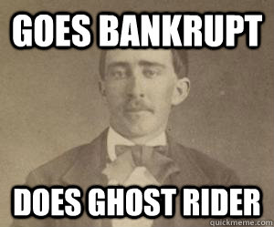 goes bankrupt does ghost rider - Civil War Nick Cage
