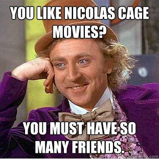 creepy Nicolas cage