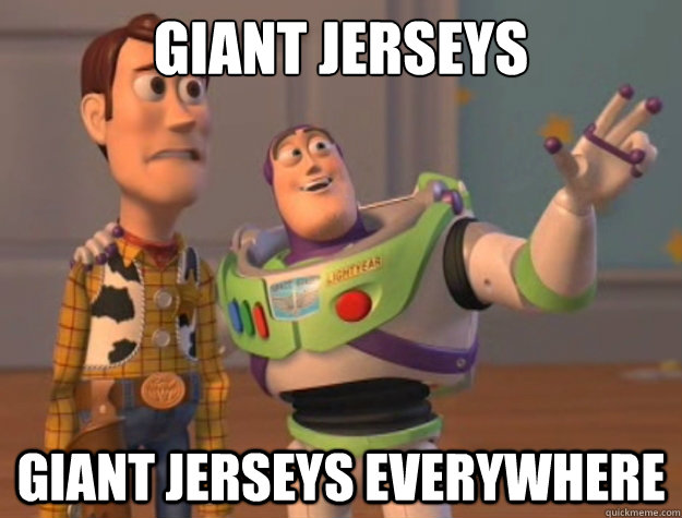 giant jerseys giant jerseys everywhere - Toy Story