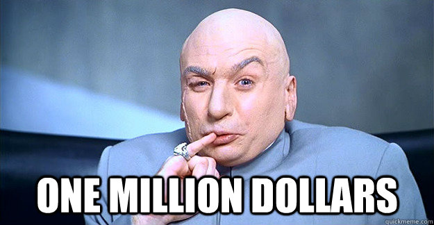 one million dollars - drevil