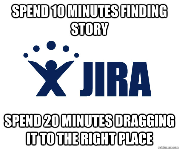 spend 10 minutes finding story spend 20 minutes dragging it  -