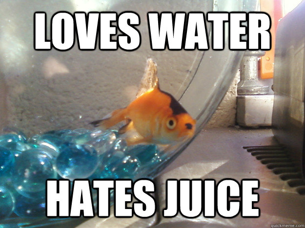 loves water hates juice - Fascist Fish