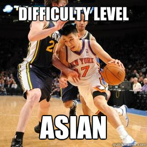 difficulty level asian