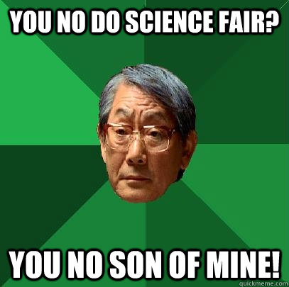 you no do science fair you no son of mine - High Expectations Asian Father