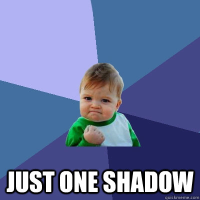 just one shadow - Success Kid