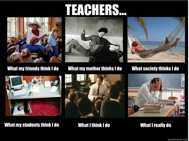 teachers what my friends think i do what my mother thinks - What People Think I Do