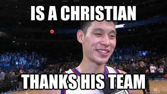 is a christian thanks his team - Good Guy Jeremy Lin