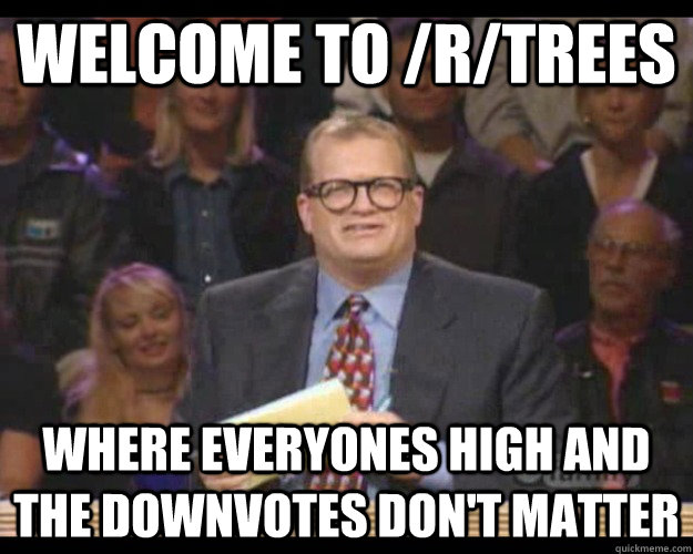 welcome to rtrees where everyones high and the downvotes d - Whos Line