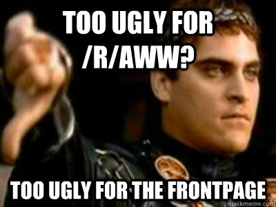 too ugly for raww too ugly for the frontpage - Downvoting Roman