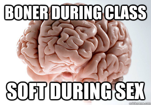 boner during class soft during sex  - Scumbag Brain