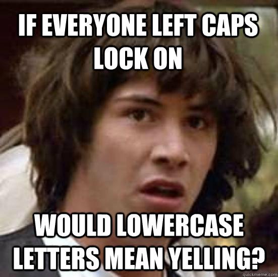 left caps lock on