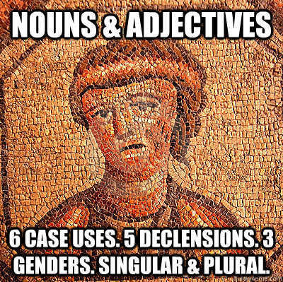 nouns adjectives 6 case uses 5 declensions 3 genders si - LATIN PROBLEMS