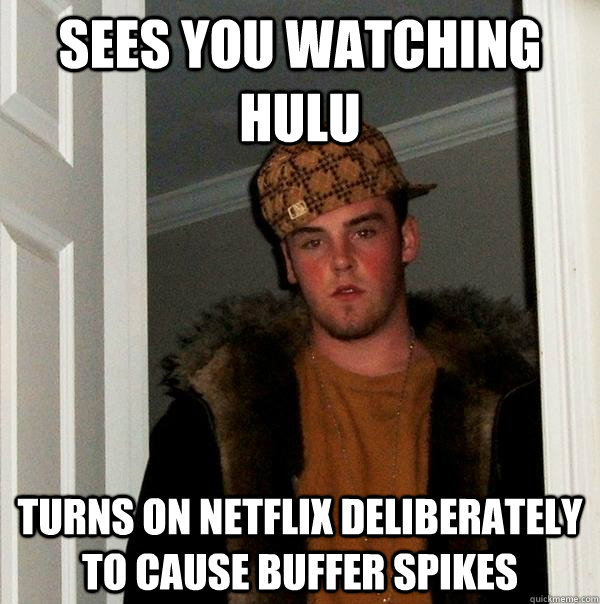 sees you watching hulu turns on netflix deliberately to caus - Scumbag Steve