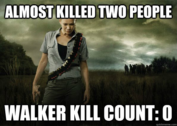 almost killed two people walker kill count 0 - Scumbag Andrea