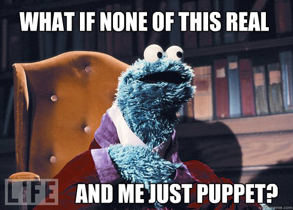 what if none of this real and me just puppet - Cookieman