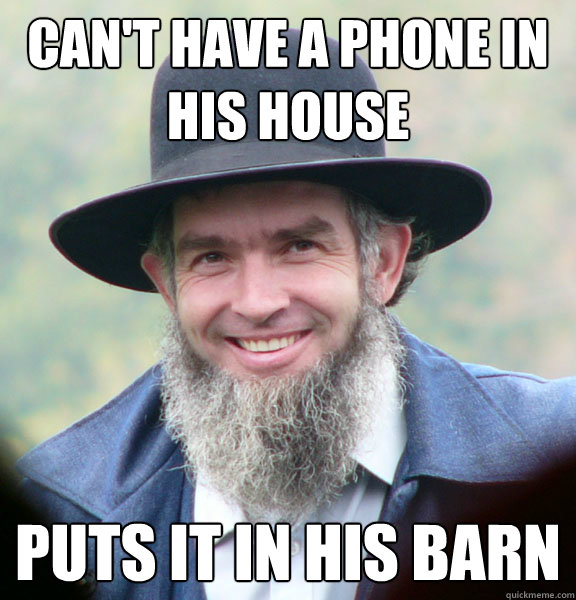 cant have a phone in his house puts it in his barn - Good Guy Amish