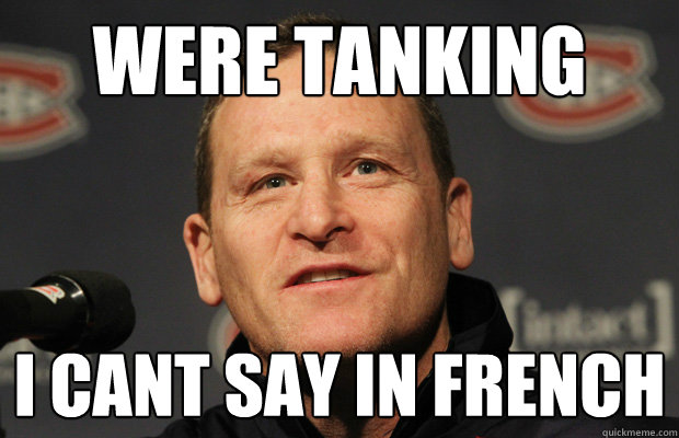 were tanking i cant say in french - Dumbass Randy Cunneyworth