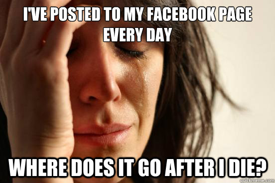 ive posted to my facebook page every day where does it go a - First World Problems