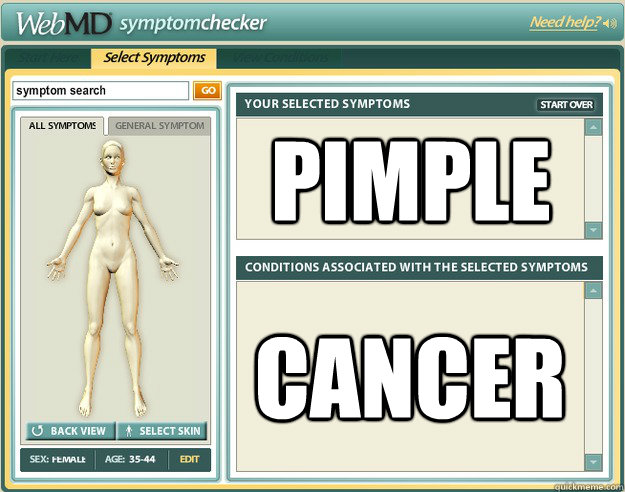 pimple cancer - Scumbag WebMD