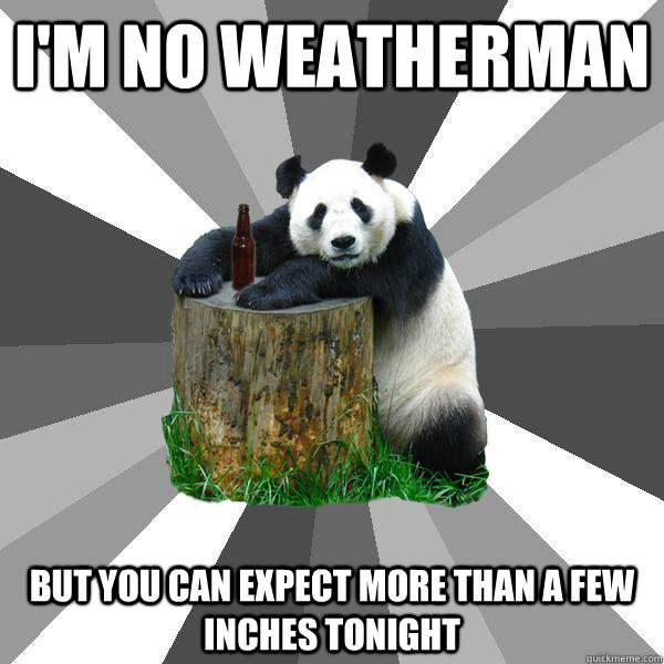 im no weatherman but you can expect more than a few inches  - Pickup-Line Panda
