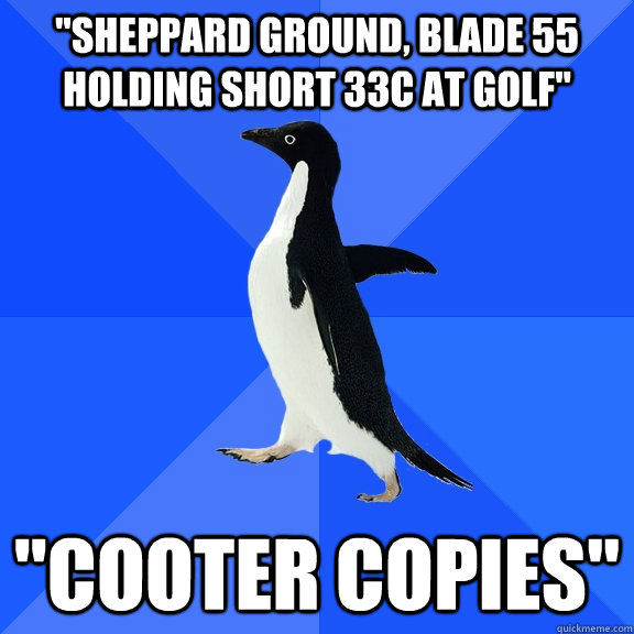 sheppard ground blade 55 holding short 33c at golf coote - Socially Awkward Penguin