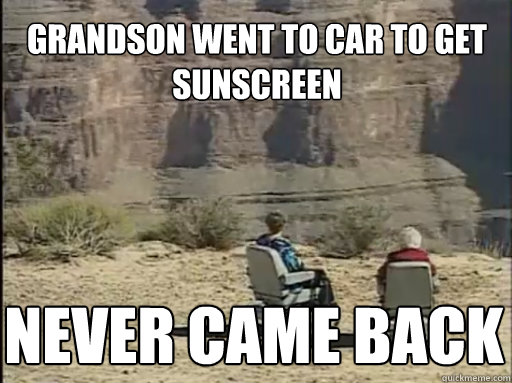 grandson went to car to get sunscreen never came back - Hoveround Grandma