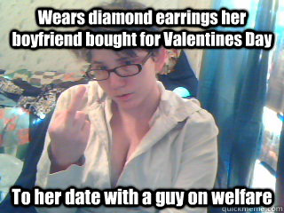 wears diamond earrings her boyfriend bought for valentines d - Ungrateful Leah