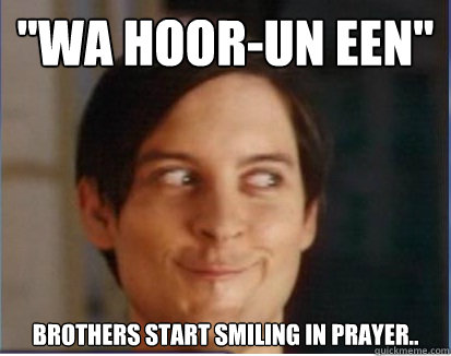 wa hoorun een brothers start smiling in prayer - ISOC