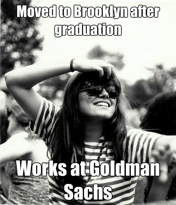 moved to brooklyn after graduation works at goldman sachs - Georgetown Hipster