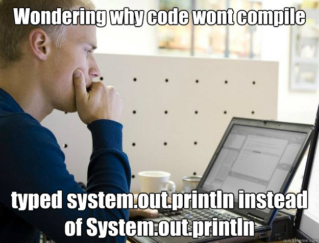 wondering why code wont compile typed systemoutprintln ins - Programmer