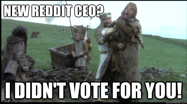 new reddit ceo i didnt vote for you - I didnt vote for you