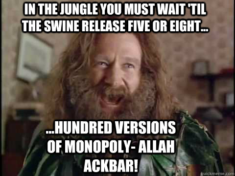 in the jungle you must wait til the swine release five or e - jumjihad